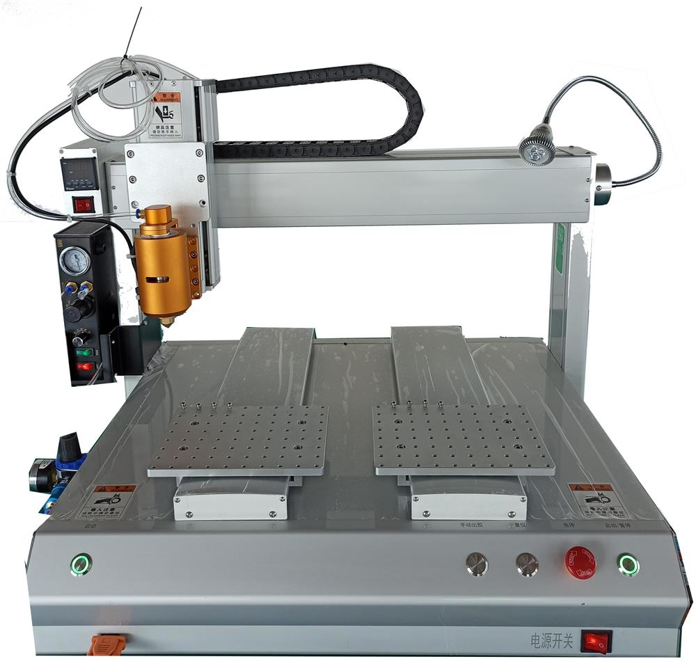 供应ZT-PUR型双平台热熔胶点胶机