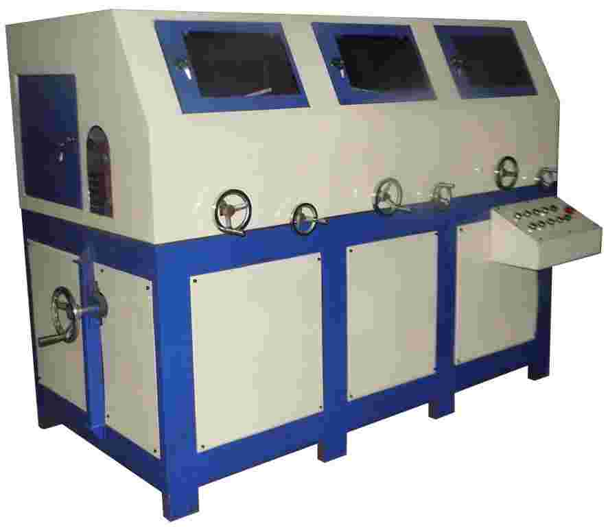 环保除尘自动圆管抛光机CBT-YZP005