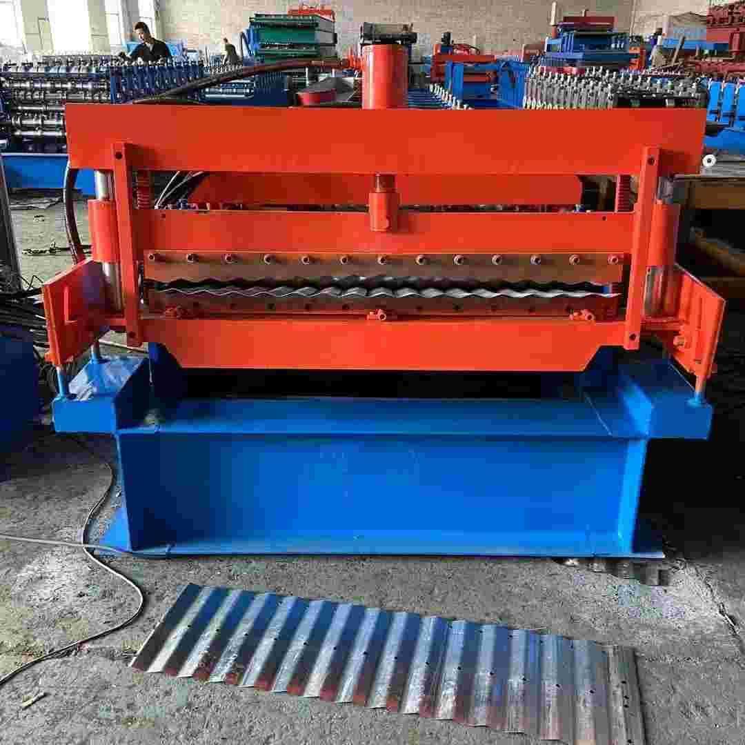 全自动金属成型机器设备粮仓一体机机械彩钢瓦